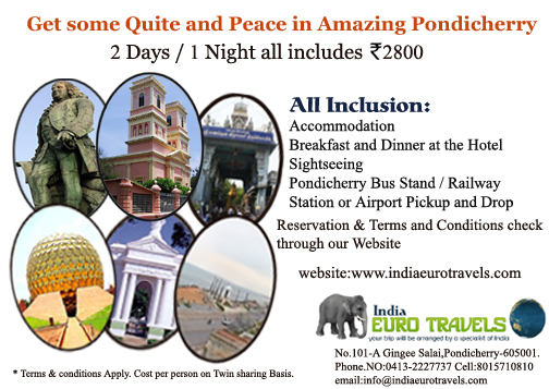 Pondicherry Promotional tour packages & Ayurveda