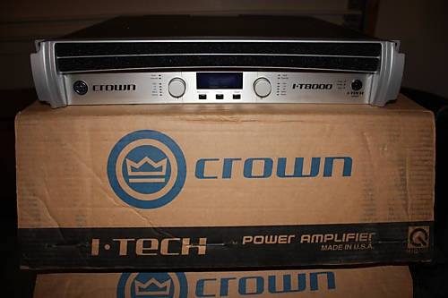5x Crown XTI6000 Power Amplifier