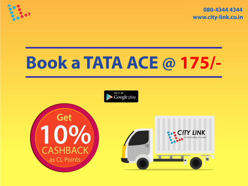 Trucks for Hire in Bangalore @ 175 only