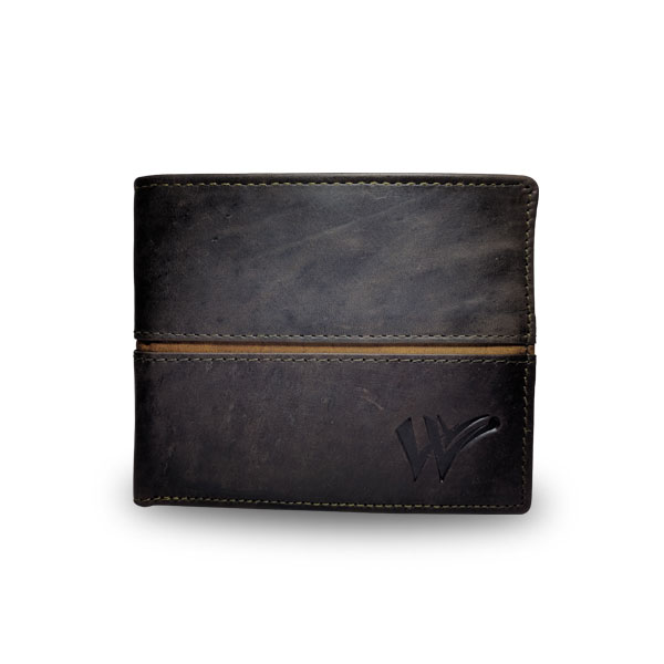 Coloured Pure Leather Casual Wallet