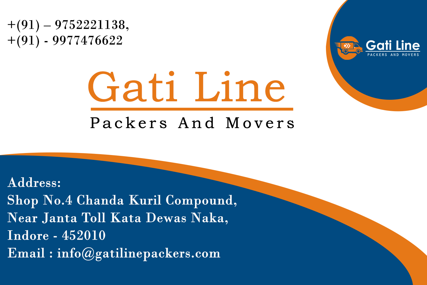 Gati Line Provide Packers and Movers in Indore