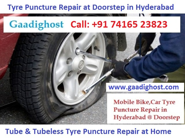 Onspot Tyre Puncture Repair in Hitech City Hyderab