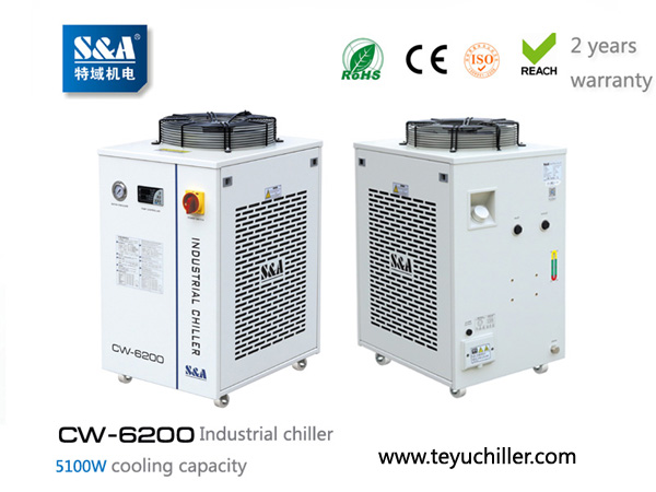 S&A water chiller system for cooling wire edm mach