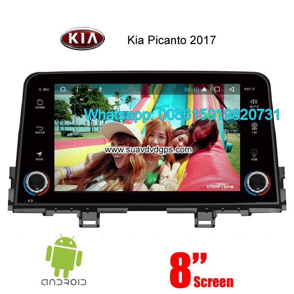 Kia Picanto 2017 car audio radio android wifi GPS