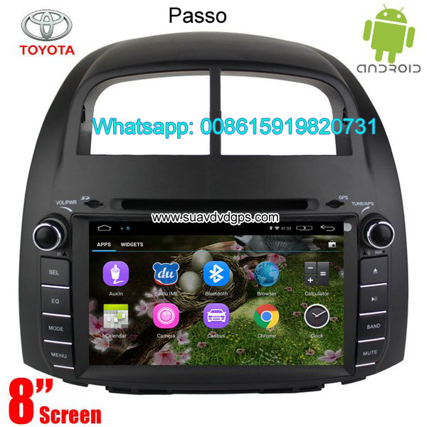 Toyota Passo Car audio radio android GPS navigatio