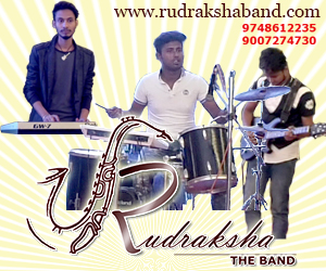 Vocal grooming class with Rudraksha band.