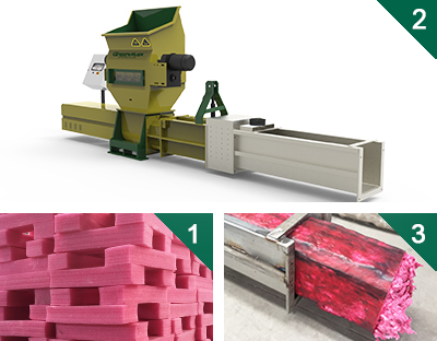 Styrofoam or epe compactors of GREENMAX ZEUS SERIE