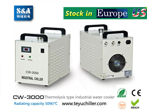 S&A water-cooled chiller CW-3000 AC220V, 50Hz
