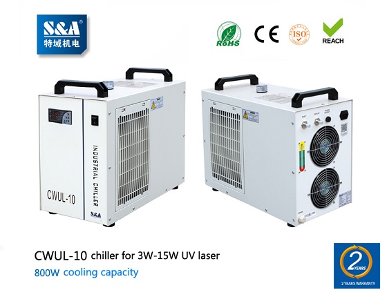 S&A air cooled water chiller CWUL-10 for 3W-15W UV