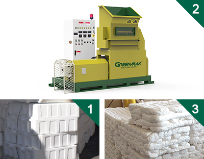 Plastics foam melting machine of GREENMAX MARS SER