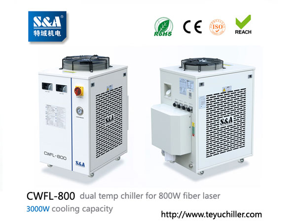 S&A laser chiller CWFL-800 for cooling 800W fiber