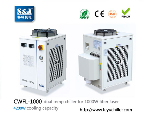 S&A chiller CWFL-1000 for cooling 1000W fiber lase