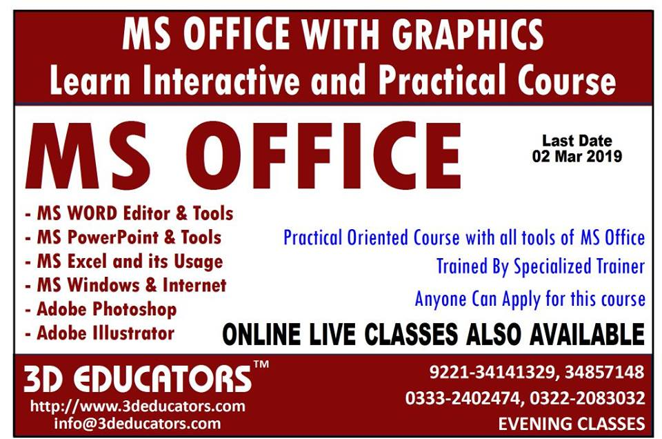 MS Office with Graphics Designing