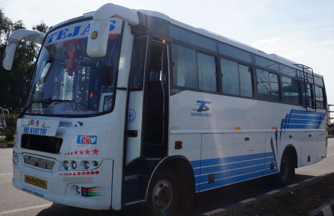 30 Seater Bus hire or rent for 28rs per KM Bangalo