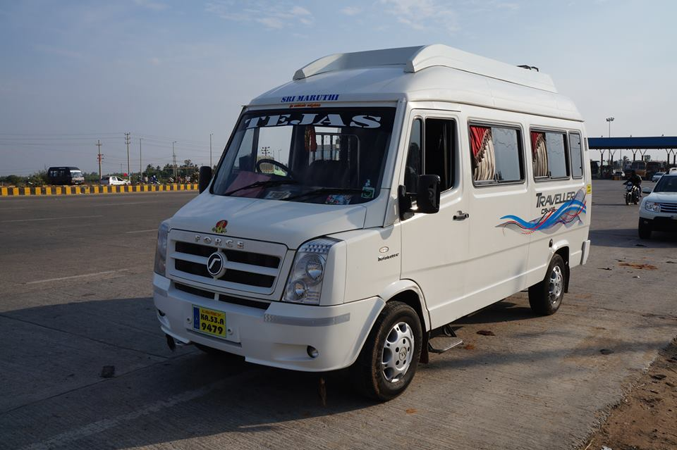 Tempo Traveller 13 seater 14rs rental in Bengaluru
